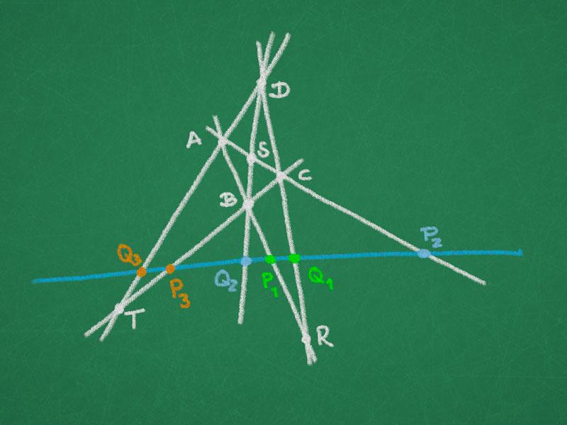 Complete quadrangle and quadrangular set