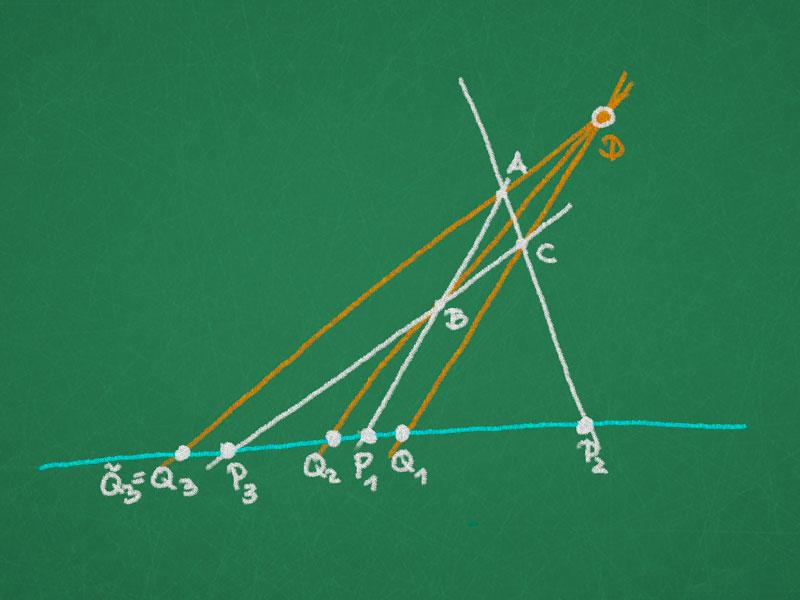 Pappus theorem on quadrangular sets