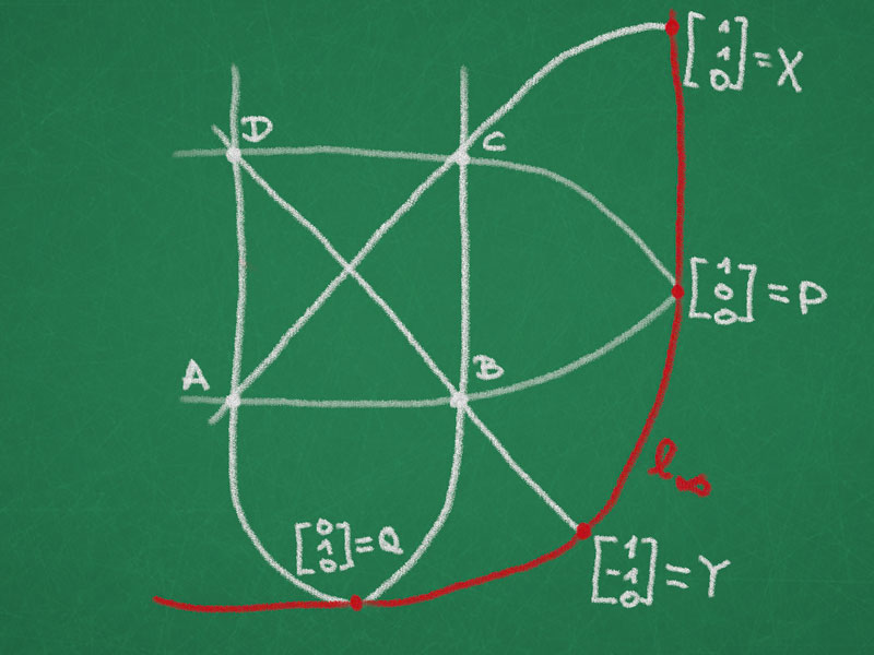 Normalized complete quadrilateral
